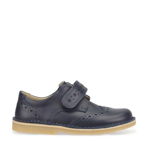 Start-Rite Ludo, navy leather boys riptape pre-school shoes 1726_9