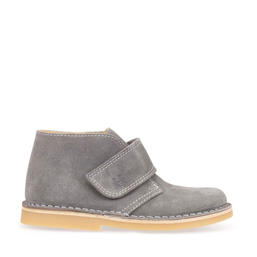 Footstep, Grey Suede Riptape Boots 1728_5