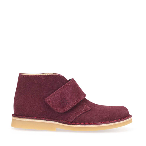 Start-Rite Footstep, berry suede riptape boots 1728_8