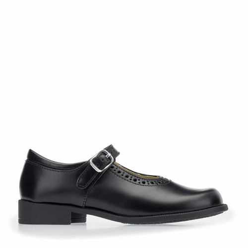Start-Rite Louisa, black leather girls buckle school shoes 2008_3
