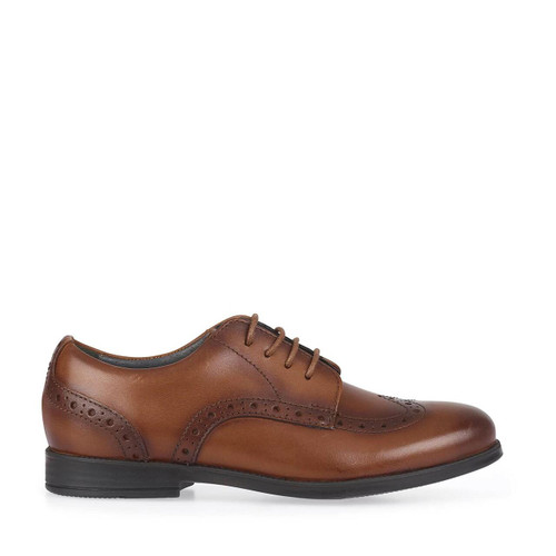 Start-Rite Brogue Pri, burnished tan leather lace-up shoes 2745_0
