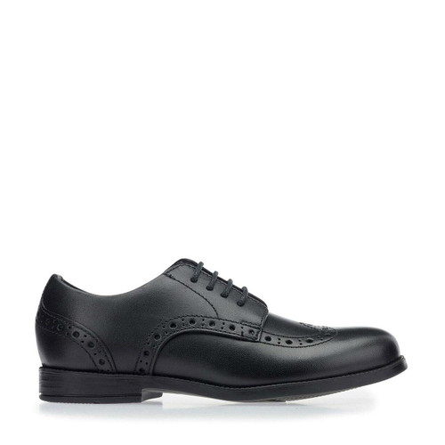 Start-Rite Brogue Pri, black leather lace-up closed school shoes 2745_7