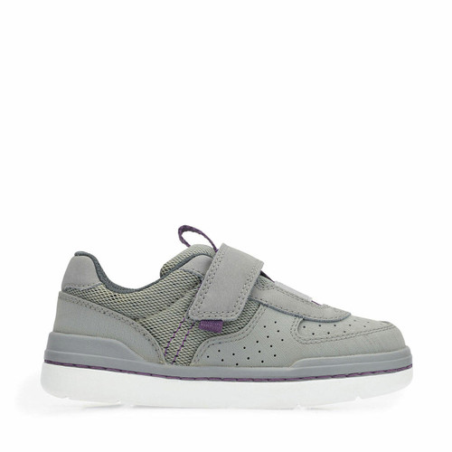 Start-Rite Flow, Grey synthetic/textile riptape primary shoes 2761_8