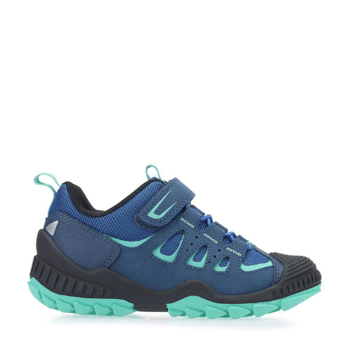 Start-Rite Charge, Blue Synthetic/Textile Riptape Primary Shoes 2765_2