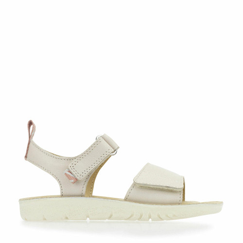 Start-Rite Buzz, taupe leather girls riptape sandals 2770_0