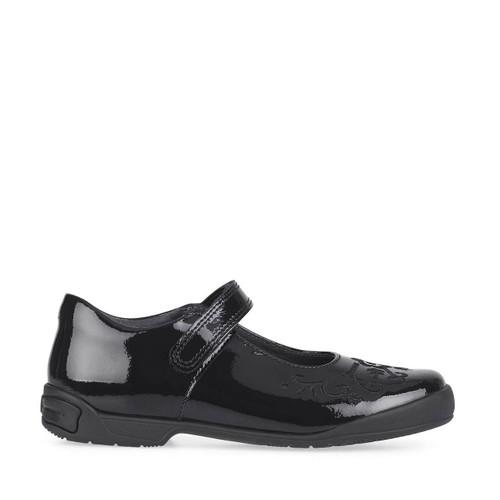 Start-Rite Hopscotch, black patent girls riptape school shoes 2788_3