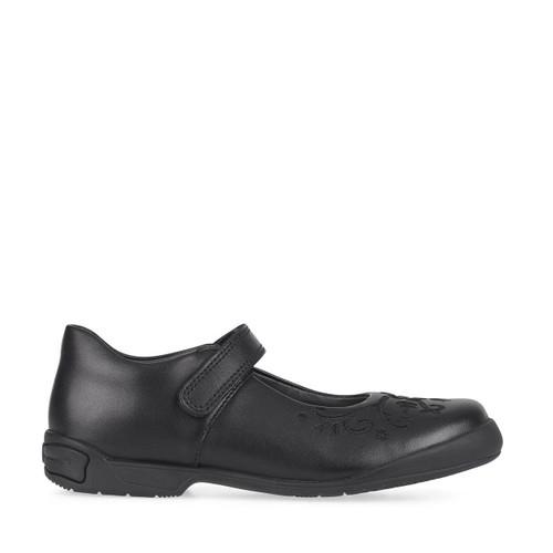 Start-Rite Hopscotch, Black leather girls riptape school shoes 2788_7
