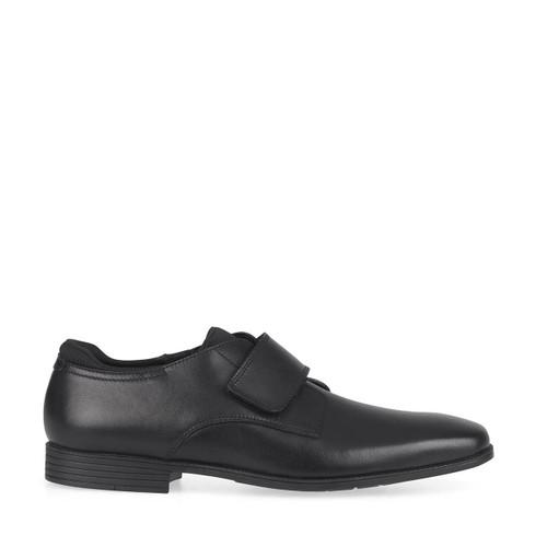 Start-Rite Logic, Black leather boys primary riptape school shoes 2791_7
