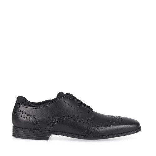 Start-Rite Tailor, Black leather boys primary lace-up school shoes 2792_7