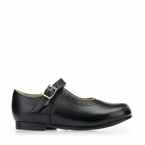 Start-Rite Clare, Black leather girls buckle traditional school shoes 3430_7