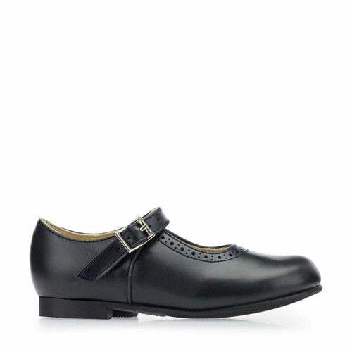 Start-Rite Clare, Navy leather girls buckle traditional school shoes 3430_9