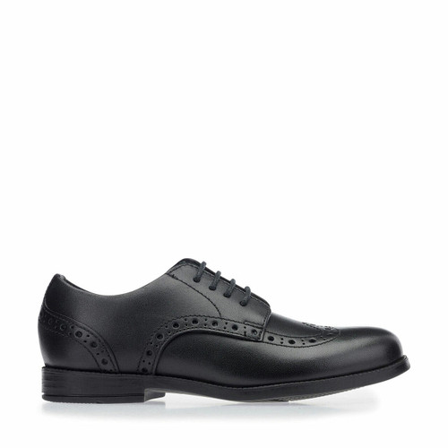 Start-Rite Brogue Snr, Black leather lace-up school shoes 3503_7