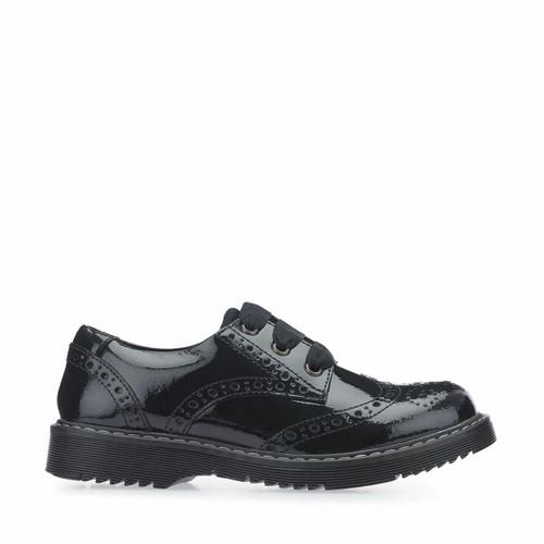Start-Rite Impulsive II, black patent girls lace-up closed school shoes 3505_3