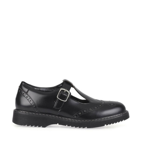 Start-Rite Imagine, Black leather girls T-bar buckle school shoes 3510_7
