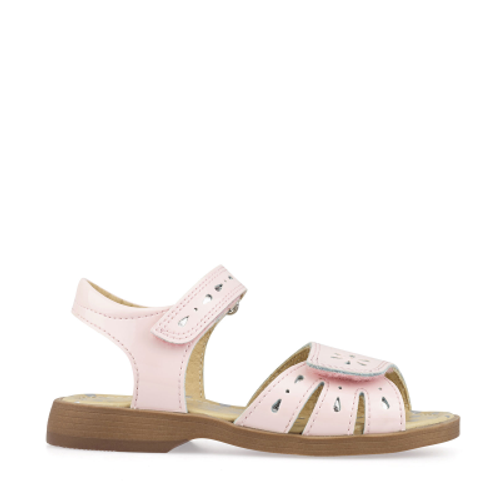 Start-Rite Flutter, Pink Patent Girls Riptape Sandals, 5182_6