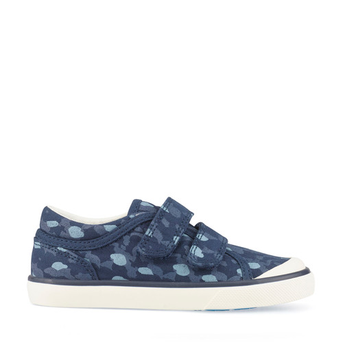 Bounce, Navy Blue Camo Boys Riptape Closed Canvas 6169_9
