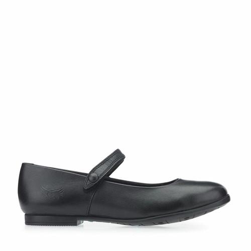 Start-Rite Florence, black leather girls riptape school shoes 7328_7