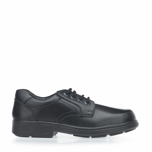 Start-Rite Isaac, black leather boys lace-up school shoes 8200_7