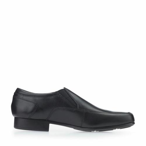 Start-Rite Tyler, black leather boys slip-on school shoes 8246_7