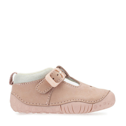 Baby Bubble, Pink Nubuck Girls T-bar Buckle Pre-Walkers 0741_6