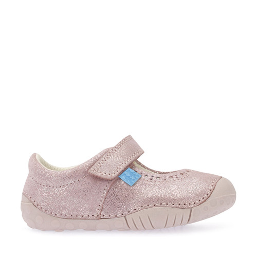 Cruise, Pink Metallic Leather Girls Riptape Pre-walkers 0751_8