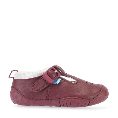 Start-Rite Baby Bubble, wine leather girls t-bar buckle pre-walkers 0741_1