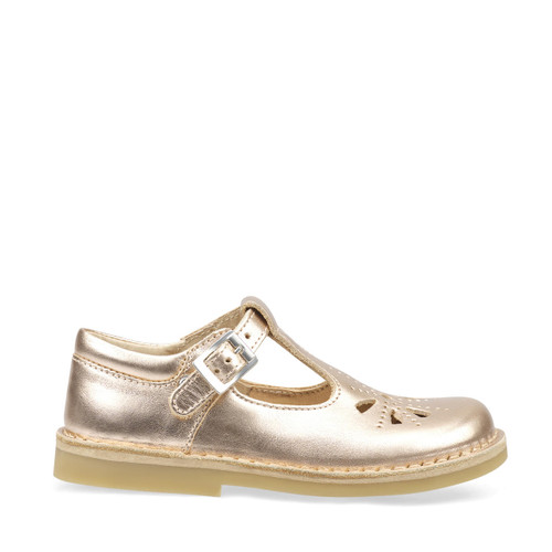 Start-Rite Lottie, rose gold leather girls buckle pre-school shoes 5184_8