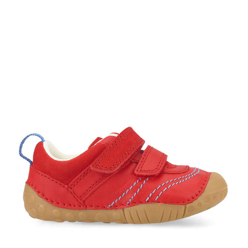 Start-Rite Baby Leo, red leather boys riptape pre-walkers 0747_1