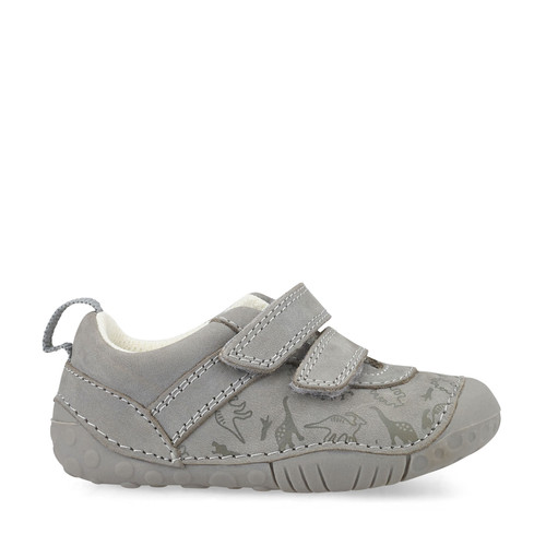 Start-Rite Roar, grey nubuck boys riptape pre-walkers 0767_5