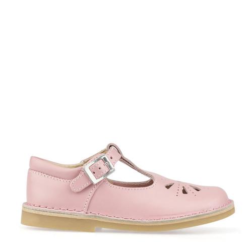 Start-Rite Lottie, pink leather girls t-bar buckle pre-school shoes 5184_6