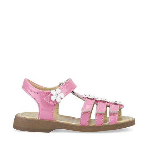 Start-Rite Picnic, bright pink glitter patent girls t-bar sandals 5188_6