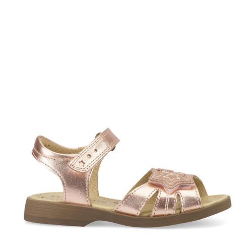 Start-Rite Twinkle, rose gold leather girls riptape sandals 5189_8