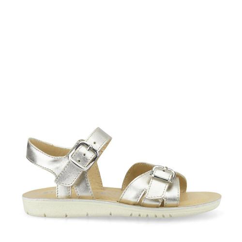 Start-Rite Enchant, silver metallic leather girls buckle sandals 5190_5