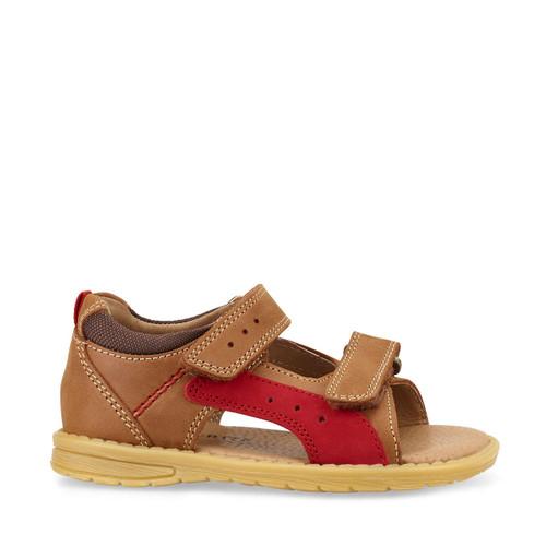 Start-Rite Breeze, brown leather boys riptape sandals 5194_0