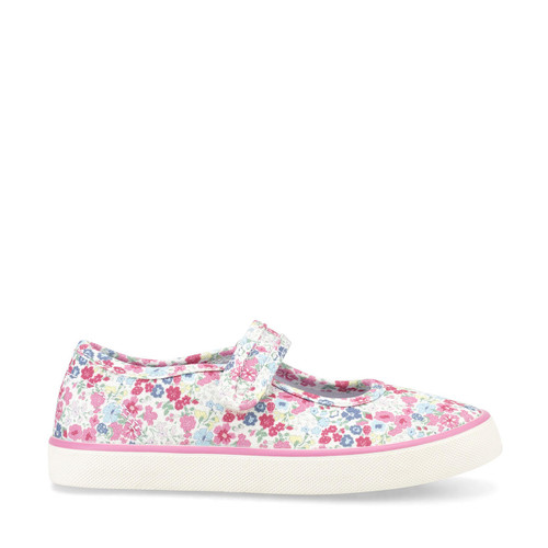 Start-Rite Blossom, pink floral girls single bar canvas 6174_6