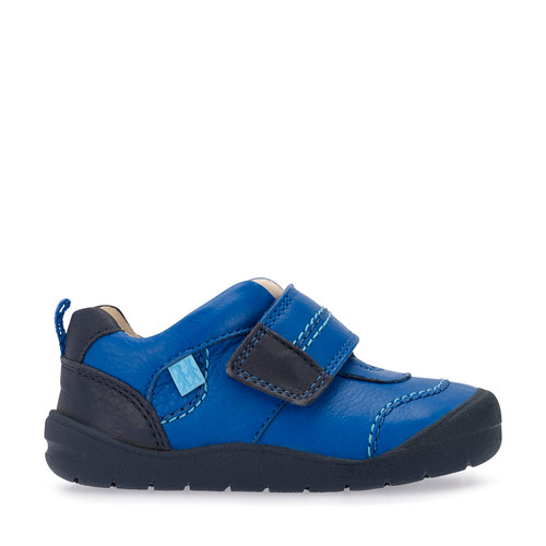 First Zak, Bright Blue Boys Riptape First Walking Shoes 0749_1