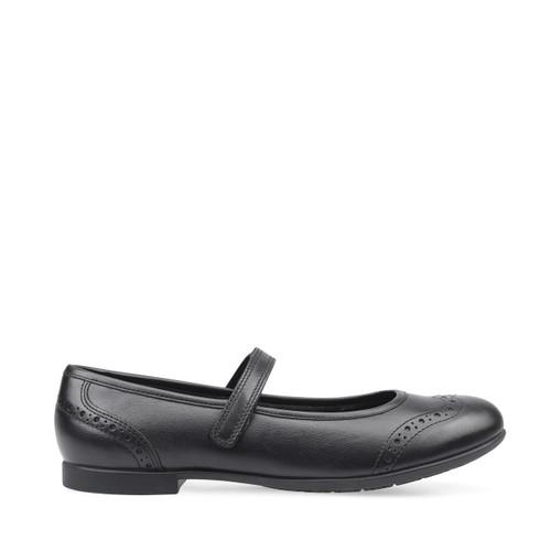 Start-Rite Impress, black leather girls riptape school shoes 3519_7