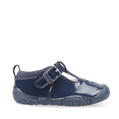 Start-Rite Baby Bubble, navy blue patent girls t-bar buckle pre-walkers 0773_9