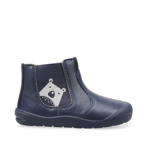 Start-Rite First Chelsea, navy blue leather first walking boots 0776_8