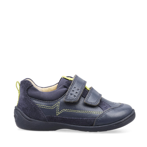 Start-Rite Zigzag, navy blue leather boys riptape first walking shoes 1483_9