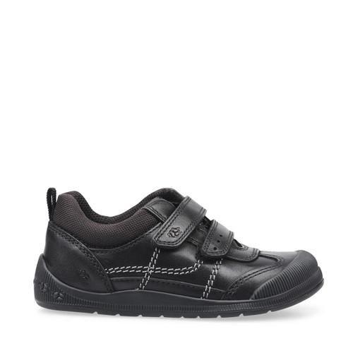 Start-Rite Tickle, black leather boys riptape pre-school shoes 1731_7