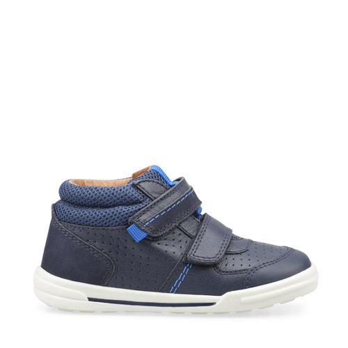 Start-Rite Frisbee, navy blue leather boys riptape first walking shoes 1736_9