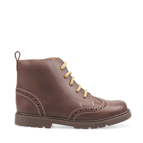 Start-Rite Echo, brown leather zip-up ankle boots 1737_0