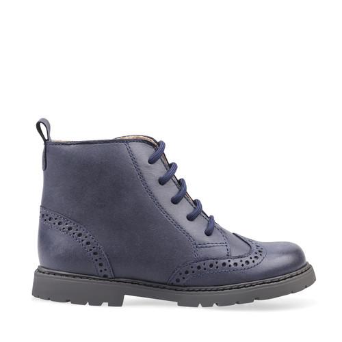 Start-Rite Echo, navy blue leather zip-up boots 1737_9