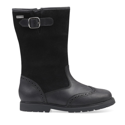 Start-Rite Toasty, black leather girls zip-up water resistant boots 1738_7