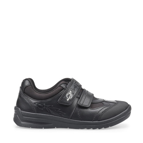 Start-Rite Rocket, black leather boys riptape school shoes 2797_7