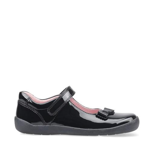 Start-Rite Giggle, black patent girls riptape school shoes 2799_3