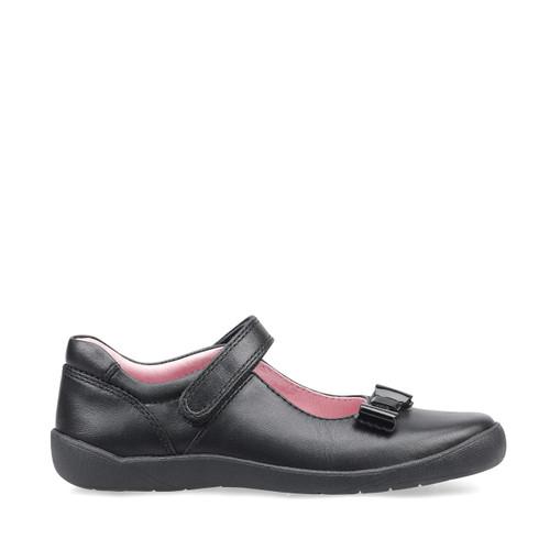 Start-Rite Giggle, black leather girls riptape school shoes 2799_7