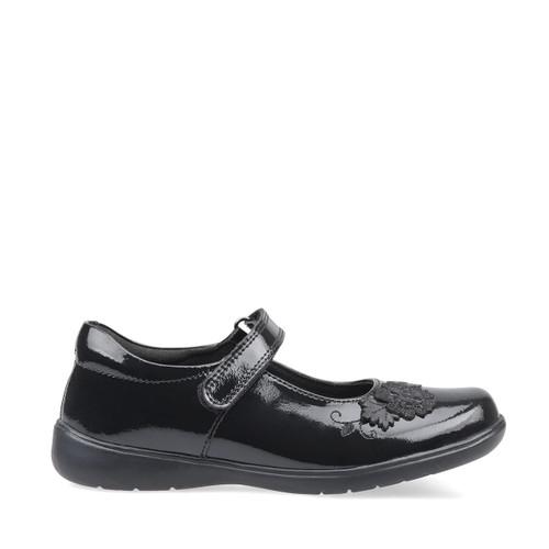 Start-Rite Wish, black patent girls riptape school shoes 2800_3