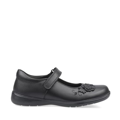 Start-Rite Wish, black leather girls riptape school shoes 2800_7
